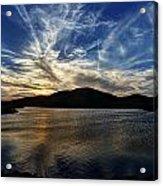Lake Sunset In The Wichita Mountains Acrylic Print