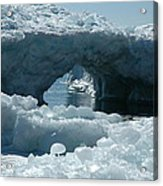Lake Superior Ice Bridge Acrylic Print