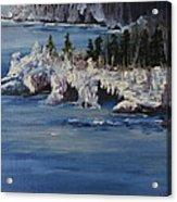 Lake Superior Ice Storm Acrylic Print