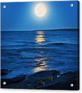 Lake Superior Moonrise Acrylic Print