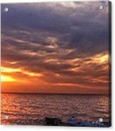 Lake Superior Sunset Panorama Acrylic Print