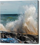 Lake Superior Waves Acrylic Print