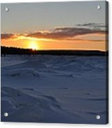 Lake Superior Winter Sunset 2 Acrylic Print