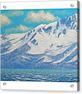 Lake Tahoe After The Storm Triptych Acrylic Print