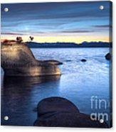 Lake Tahoe Bonsai Rock Acrylic Print