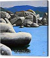 Lake Tahoe Rocky Cove Acrylic Print by Frank Wilson