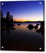Lake Tahoe Sand Harbor Sunset Silhouette Acrylic Print