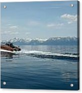 Lake Tahoe Waterskiing Acrylic Print