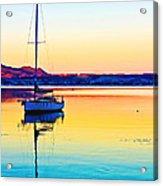 Lake Taupo Sailboat Acrylic Print