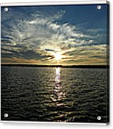 lake Tomiko Sunset Acrylic Print by Dianne  Lacourciere