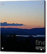 Lake Umbagog After Sunset   Acrylic Print