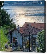 Lake View Down To Lake Como In Italy Acrylic Print