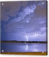 Lake View Lightning Thunderstorm Acrylic Print by James BO  Insogna