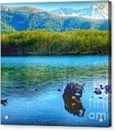 Lake View Of Mount Saint Helens  Acrylic Print