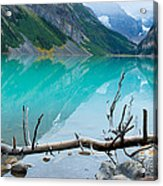 Lake With Canadian Rockies Acrylic Print
