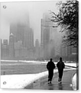 Lakefront Runners Acrylic Print