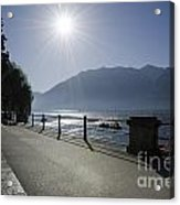 Lakefront With Sun Acrylic Print
