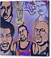 Lakers Love Jerry Buss 1 Acrylic Print by Tony B Conscious