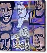 Lakers Love Jerry Buss 2 Acrylic Print by Tony B Conscious