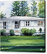 Lakeside Cottage Acrylic Print