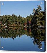 Lakeside Cottage Living - Reflecting On Relaxation Acrylic Print