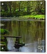 Lakeside Seat. Acrylic Print
