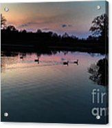 Lakeside Sunset Reflections Acrylic Print