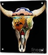 Lakota Bison Skull Acrylic Print