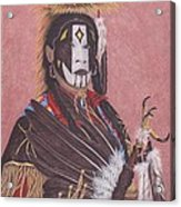 Lakota Indian Spirit Ceremonial Dress Acrylic Print by Billie Bowles