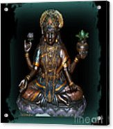 Lakshmi Hindu Goddess Acrylic Print by Eva Thomas