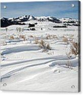 Lamar Valley Winter Scenic Acrylic Print
