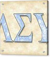 Lambda Sigma Upsilon - Parchment Acrylic Print