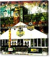 Lambeau Field - Tundra Tailgate Zone Acrylic Print by Joel Witmeyer