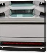 Lambo Logo And Tail Detail Grey Acrylic Print