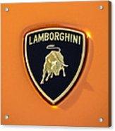 Lamborghini Emblem -0525c55 Acrylic Print