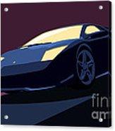 Lamborghini Murcielago - Pop Art Acrylic Print