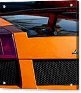 Lamborghini Rear View 2 Acrylic Print