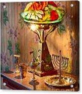 Lamp And Menorah Acrylic Print