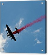 Lancaster Bomber Drops Poppies Over London Acrylic Print