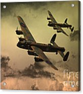 Lancaster Fire In The Sky Acrylic Print