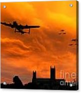 Lancaster Lincoln Sunset Acrylic Print