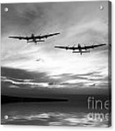 Lancasters Return Mono Version  Acrylic Print