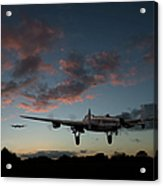 Lancasters Taking Off At Sunset Acrylic Print