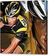 Lance Armstrong Artwork Acrylic Print
