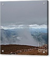 Land And Clouds Converge Acrylic Print