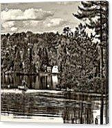 Land Of Lakes Sepia Acrylic Print