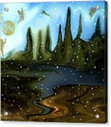 Land Of The Fairies  For Kids Acrylic Print
