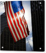 Land Of The Free Acrylic Print by Leslie Leda