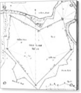 Land Survey From 1722 Acrylic Print