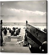 Landing At Normandy On D-day Acrylic Print